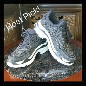 NEW Jessica Simpson Gray Bling Sneakers NW…